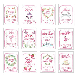 Month by Month Card Set - Girl