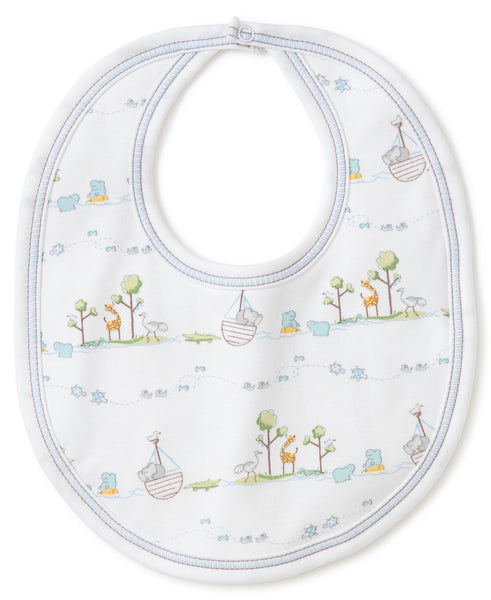 Noah's Ark Bib- Light Blue