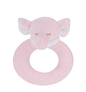 Ring Rattle- Pink Elephant