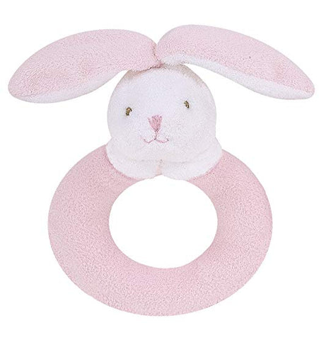 Ring Rattle- Pink Bunny