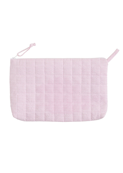 Quilted Luggage - Light Pink