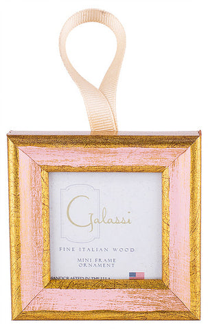 Frame Ornament-Pink/Gold