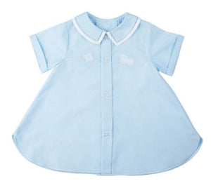 Boys Daygown w/ Train- Blue