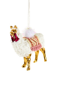 Winter Llama Ornament