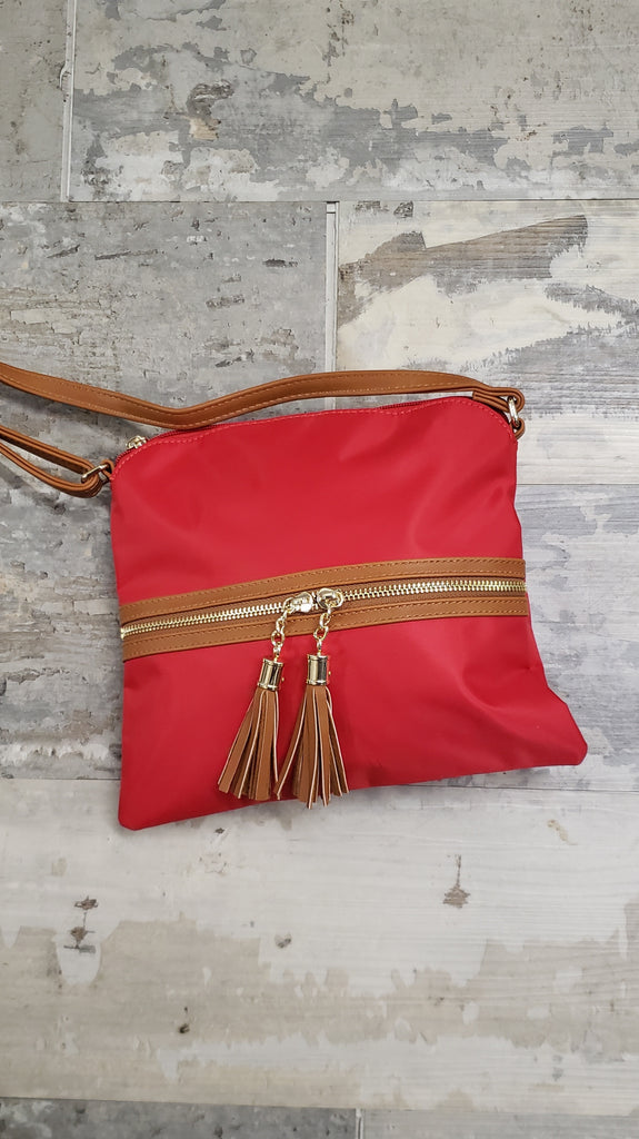 Zipper Detail Crossbody