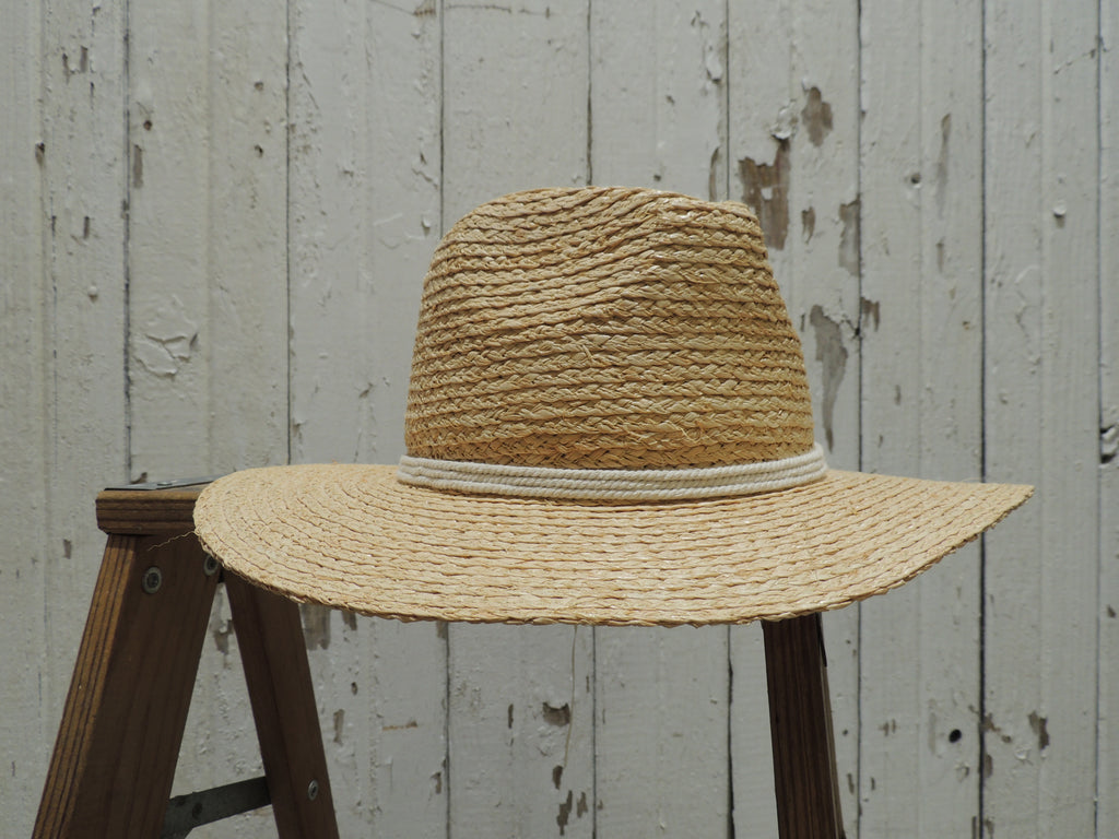 Straw Sunhat with White Band