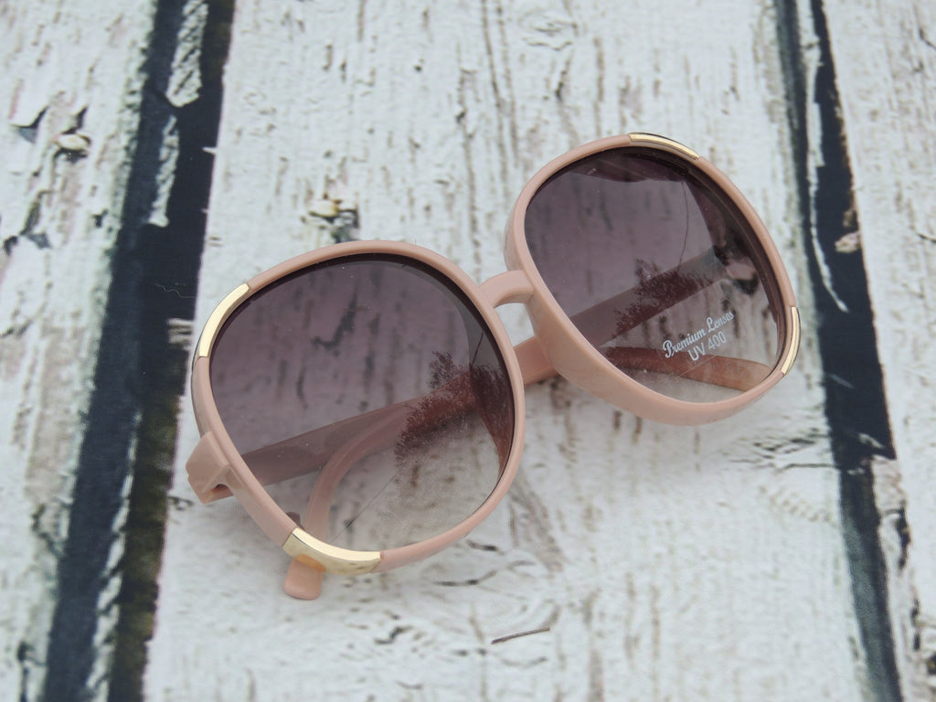 Blush Sunglasses with Gold Trim