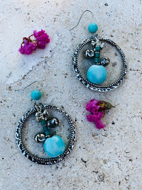 Route 66 Bead & Ring Drop Earrings
