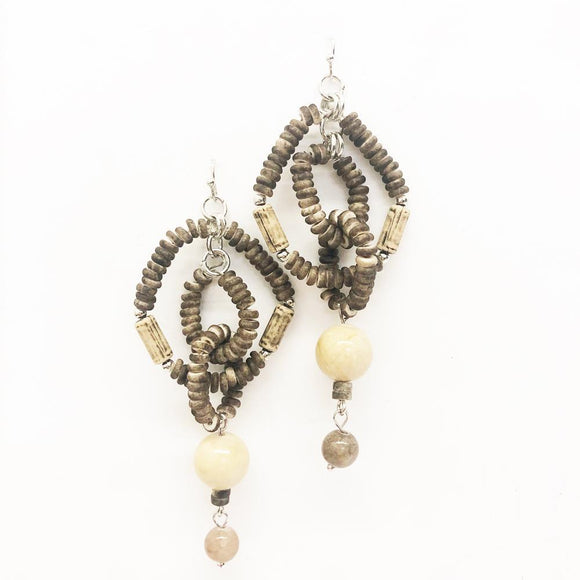 Relic Beaded Drop Earrings