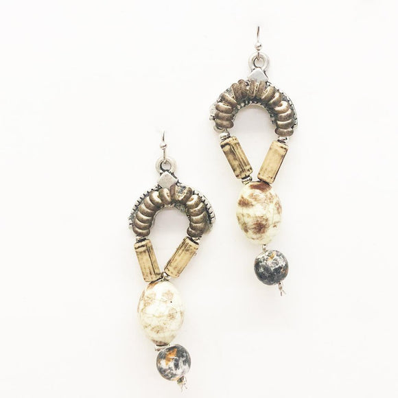 Relic Long Beaded Drop Earrings