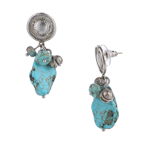Route 66 Stone Drop Post Top Earrings