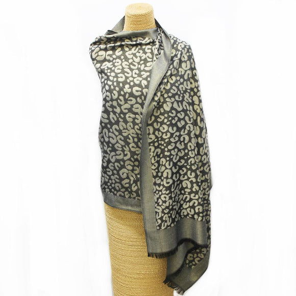 Soft Cheetah Weave Scarf Tan