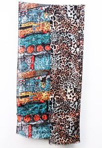 Light Weight Teal Multi Color Double Sided Print Wrap