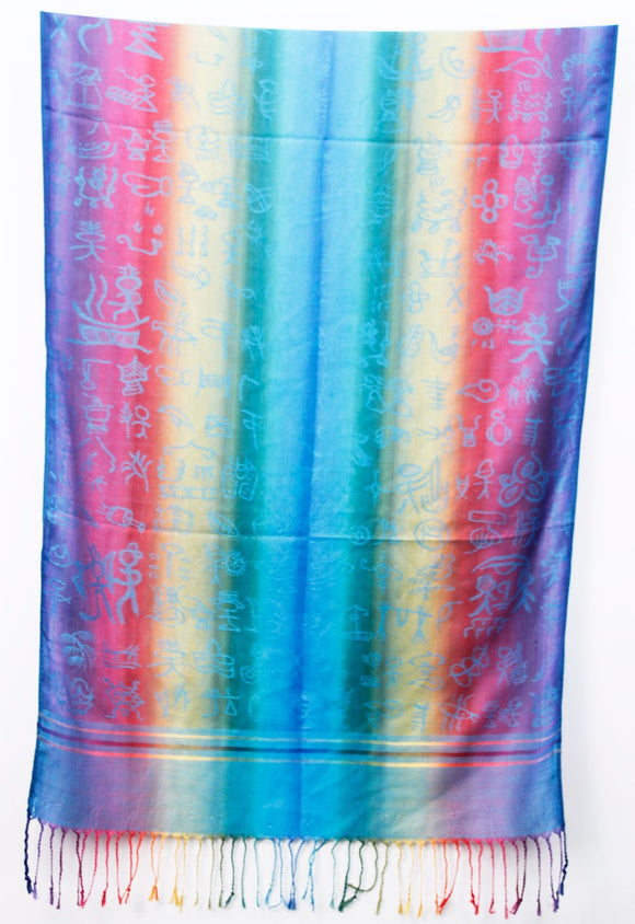 Blues Hieroglyphs Bright Wrap