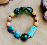 Strata Beaded Stretch Bracelet