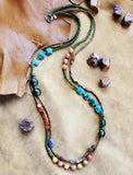 Strata Long 2 Strand Beaded Necklace