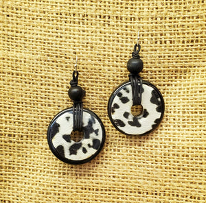 Vintage Finds Black And White Animal Earring