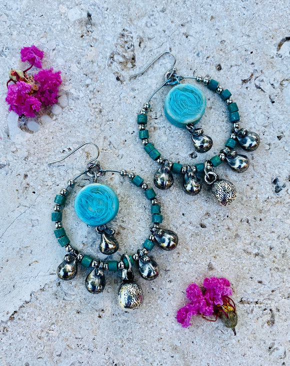 Route 66 Beaded Hoop Earrings