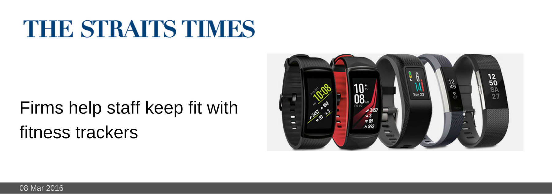 08 MAR 2016: Firms help staff keep fit with fitness trackers
