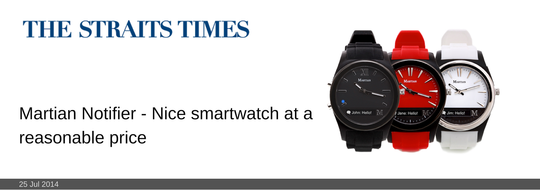25 JUL 2014: Martian Notifier - Nice smartwatch at a reasonable price