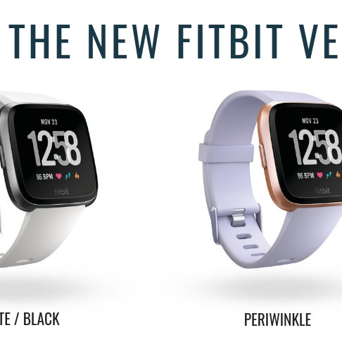 Introducing Fitbit Versa's New Colours - White / Black and Periwinkle / Rose Gold