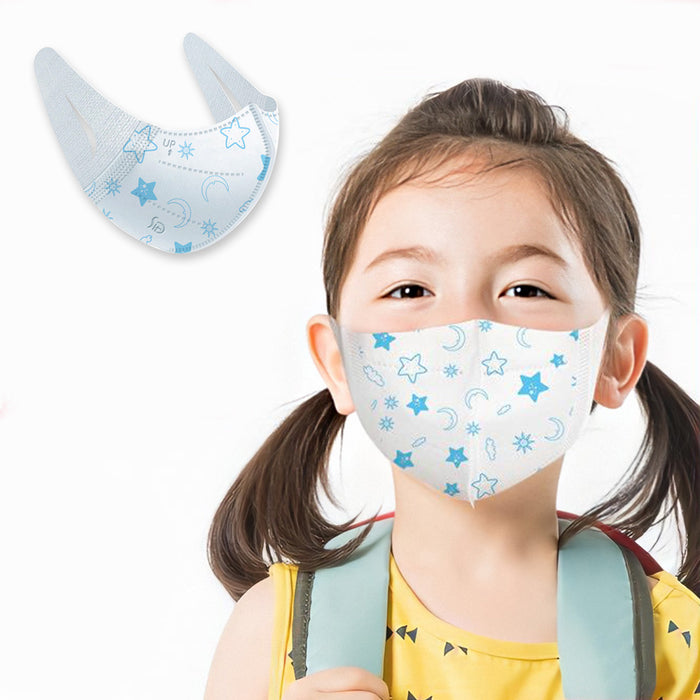 Aub 3D Disposable & Foldable Face Mask (Kids & Adult Size) - 50 Pcs