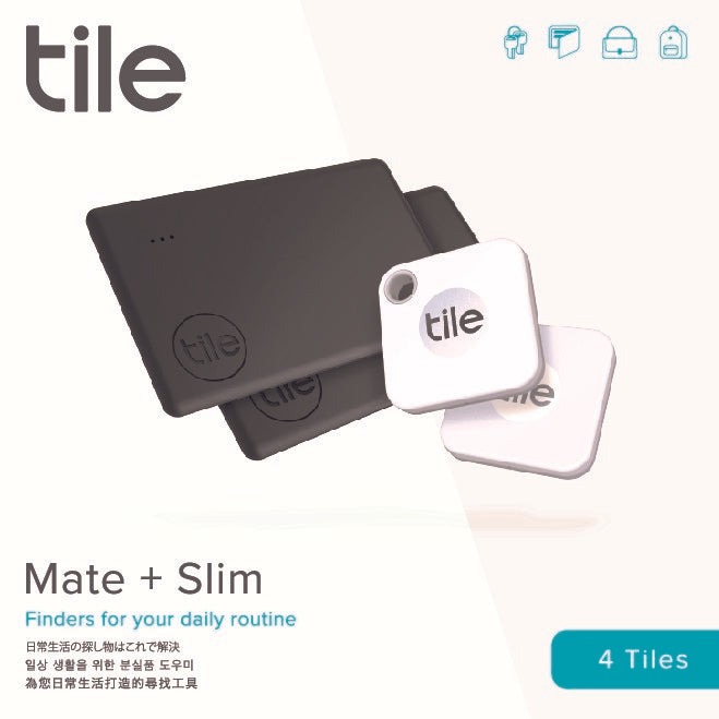 Tile Mate & Tile Slim (2020) - 4-pack (2 Mates, 2 Slims)