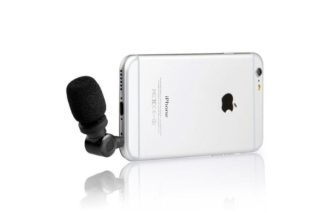 Smartmic Mini Directional Microphone for Select Apple iPhone or iPad and Android Smartphones or Tablets
