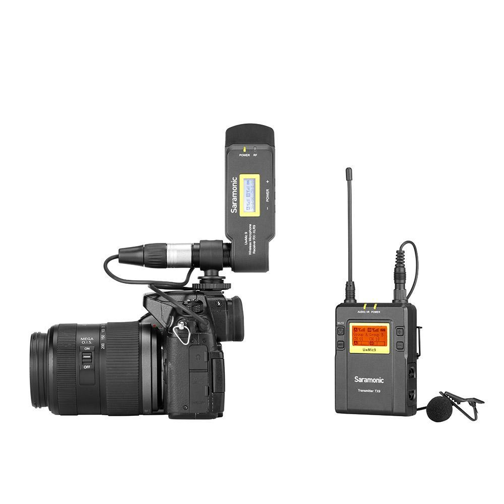 UwMic9 TX9+TX9+RX9 Dual UHF Wireless Lavalier Microphone System for DSLRs, Mirrorless Cameras and Video Cameras