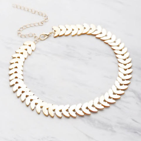 Leaf Choker - Gold