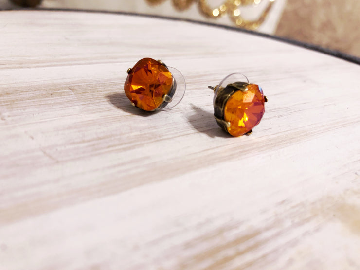 Antique Gold Post Earrings