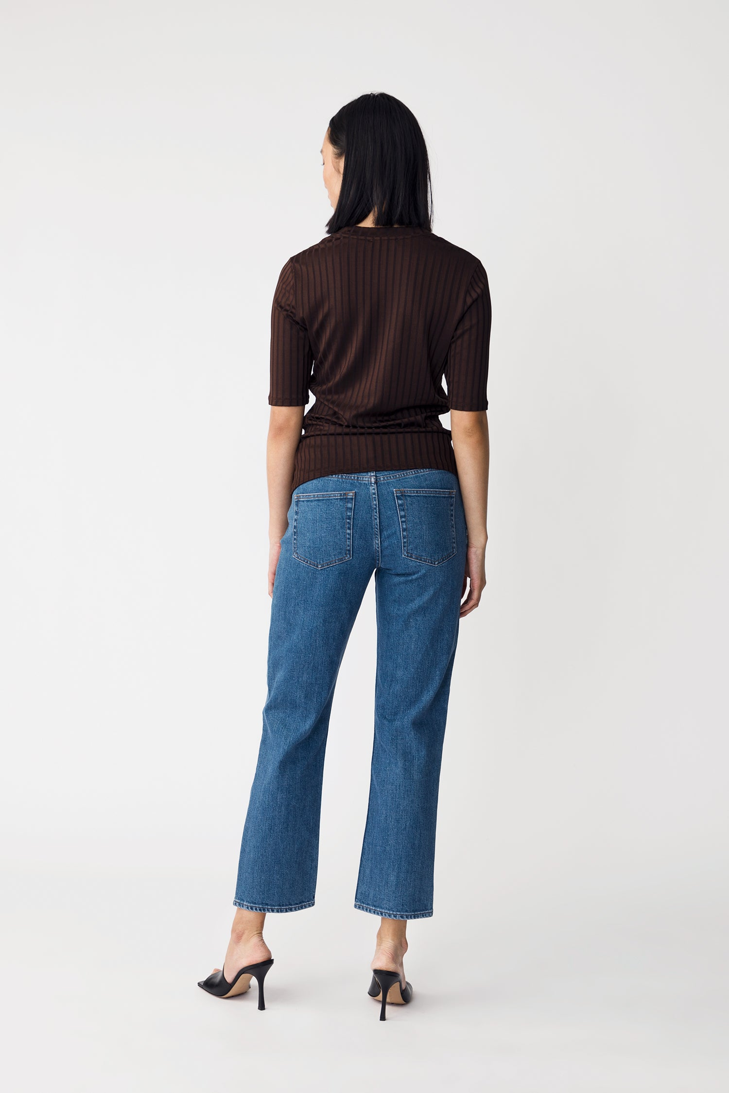 PERNILLE TOP - DARK BROWN