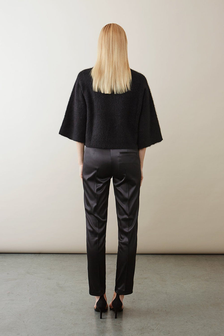 BARTH TROUSERS - BLACK SATIN Trousers Stylein
