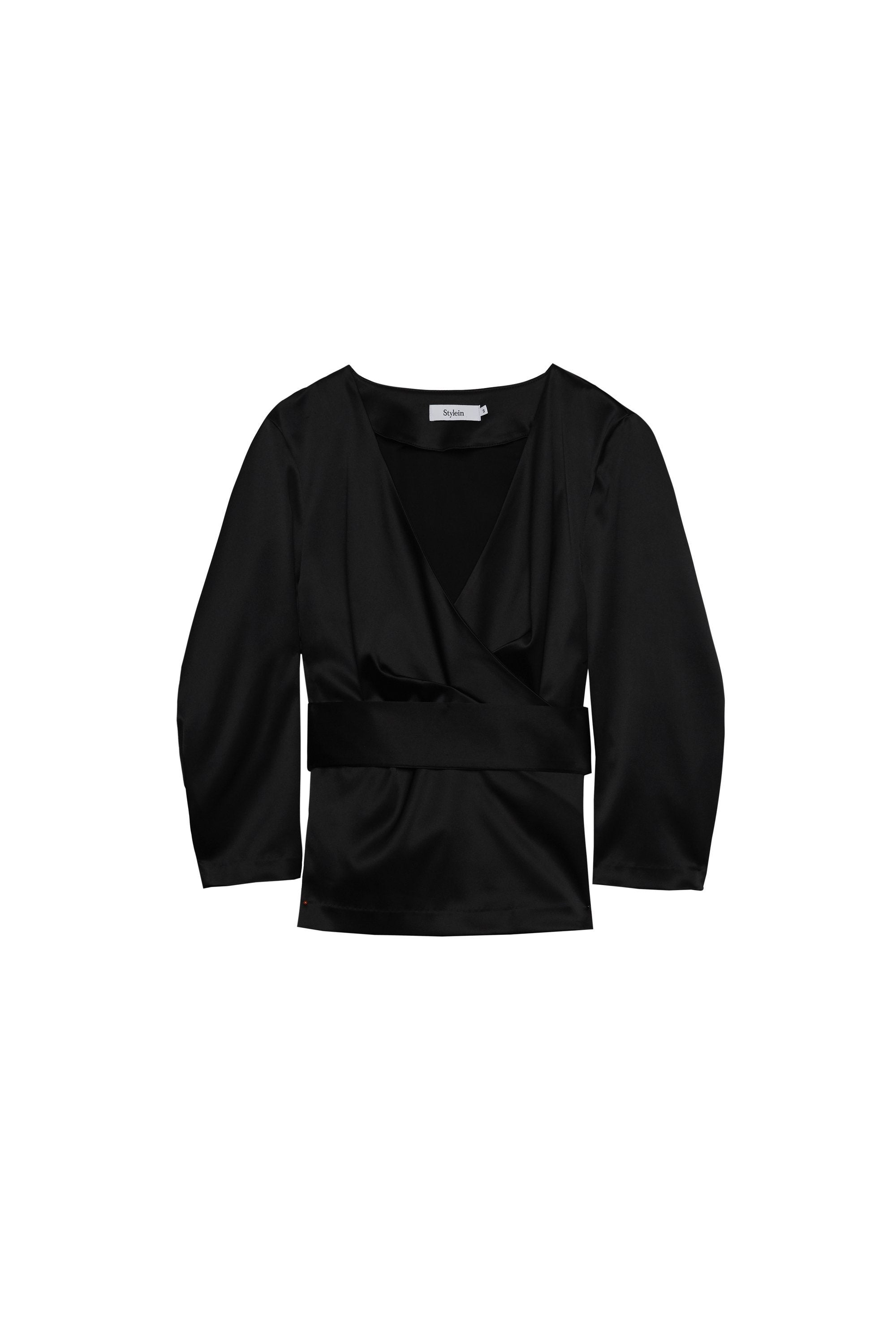 BASTILLE BLOUSE - BLACK SATIN Top Stylein