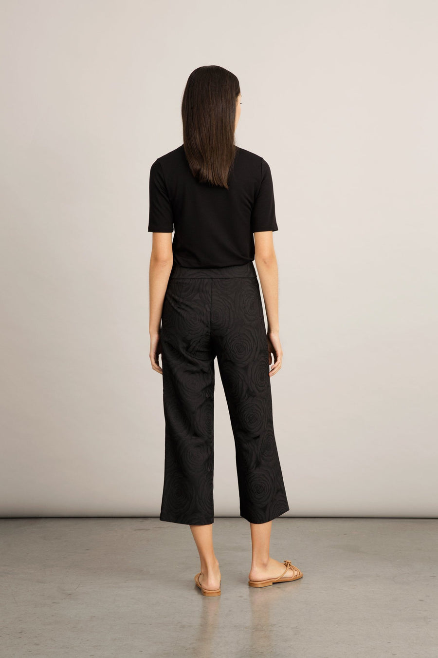 BATALLA TROUSERS - BLACK JACQUARD Trousers Stylein