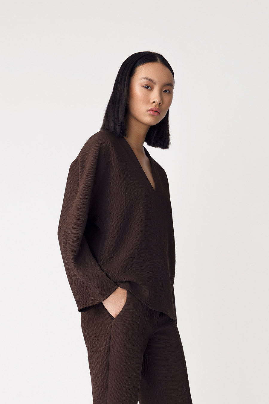 BERDE TOP - DARK BROWN