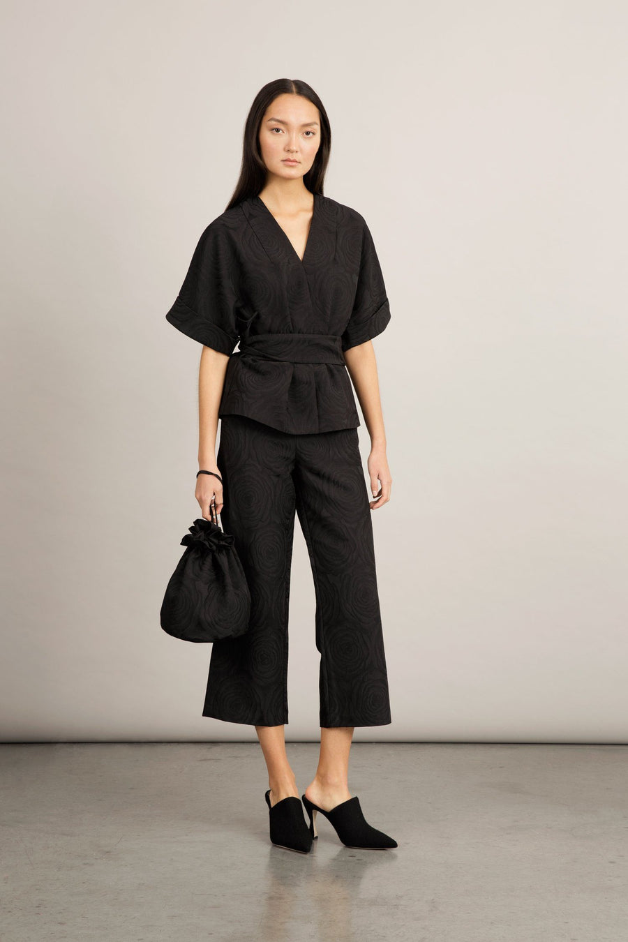 BATALLA TROUSERS - BLACK JACQUARD