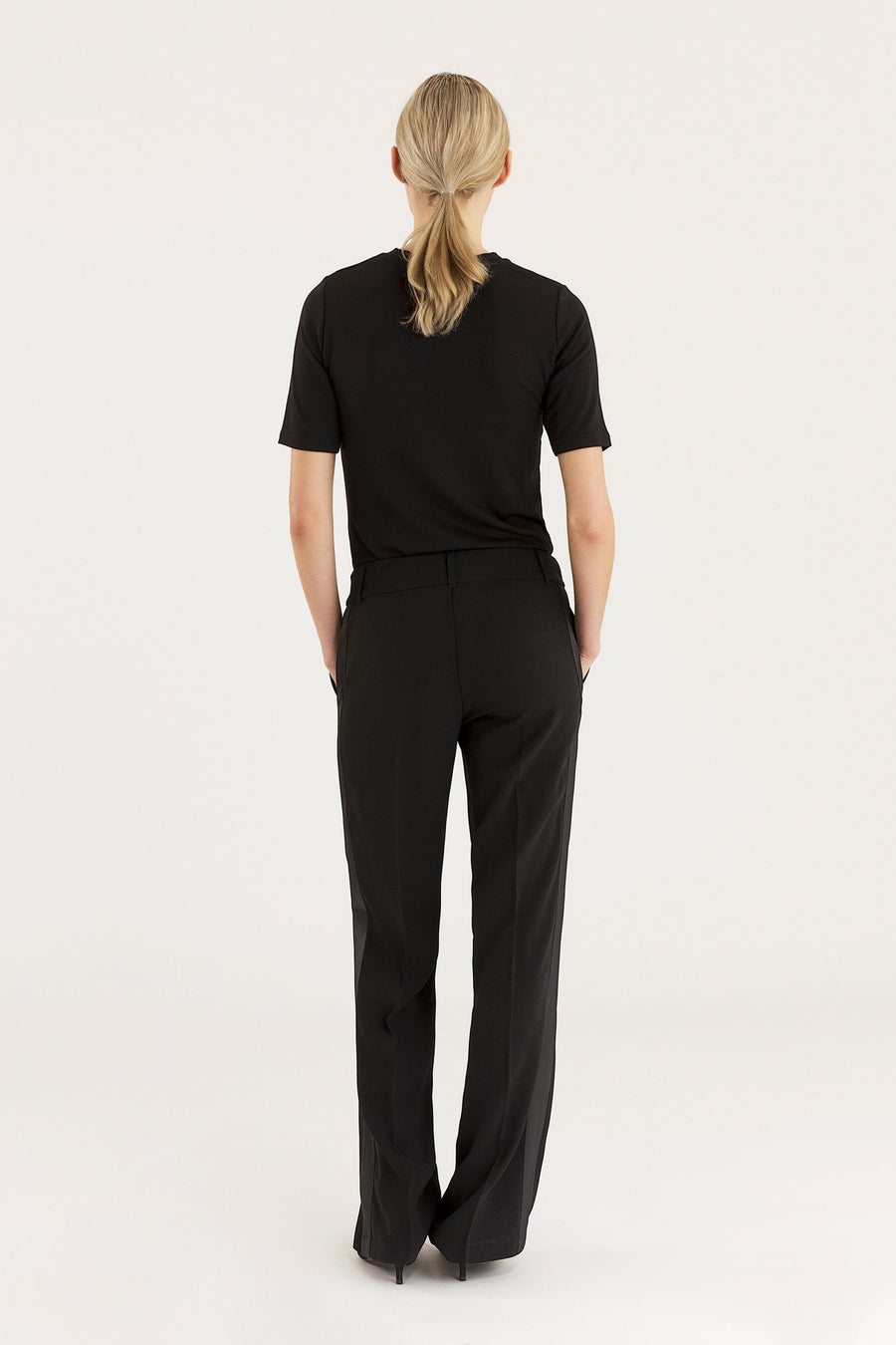 BELTON TROUSERS - BLACK Trousers Stylein