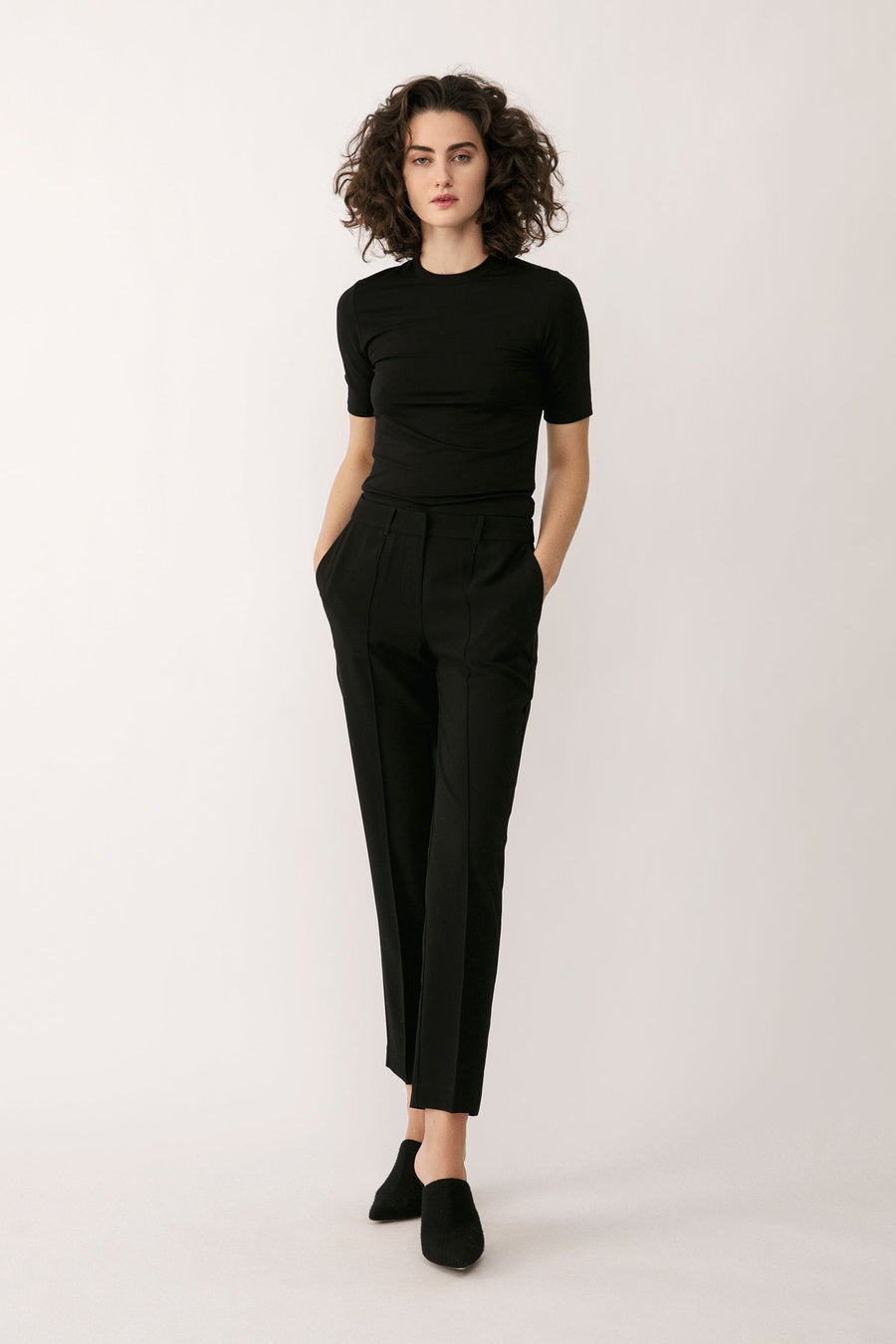 BLEECKER TROUSERS - BLACK Trousers Stylein