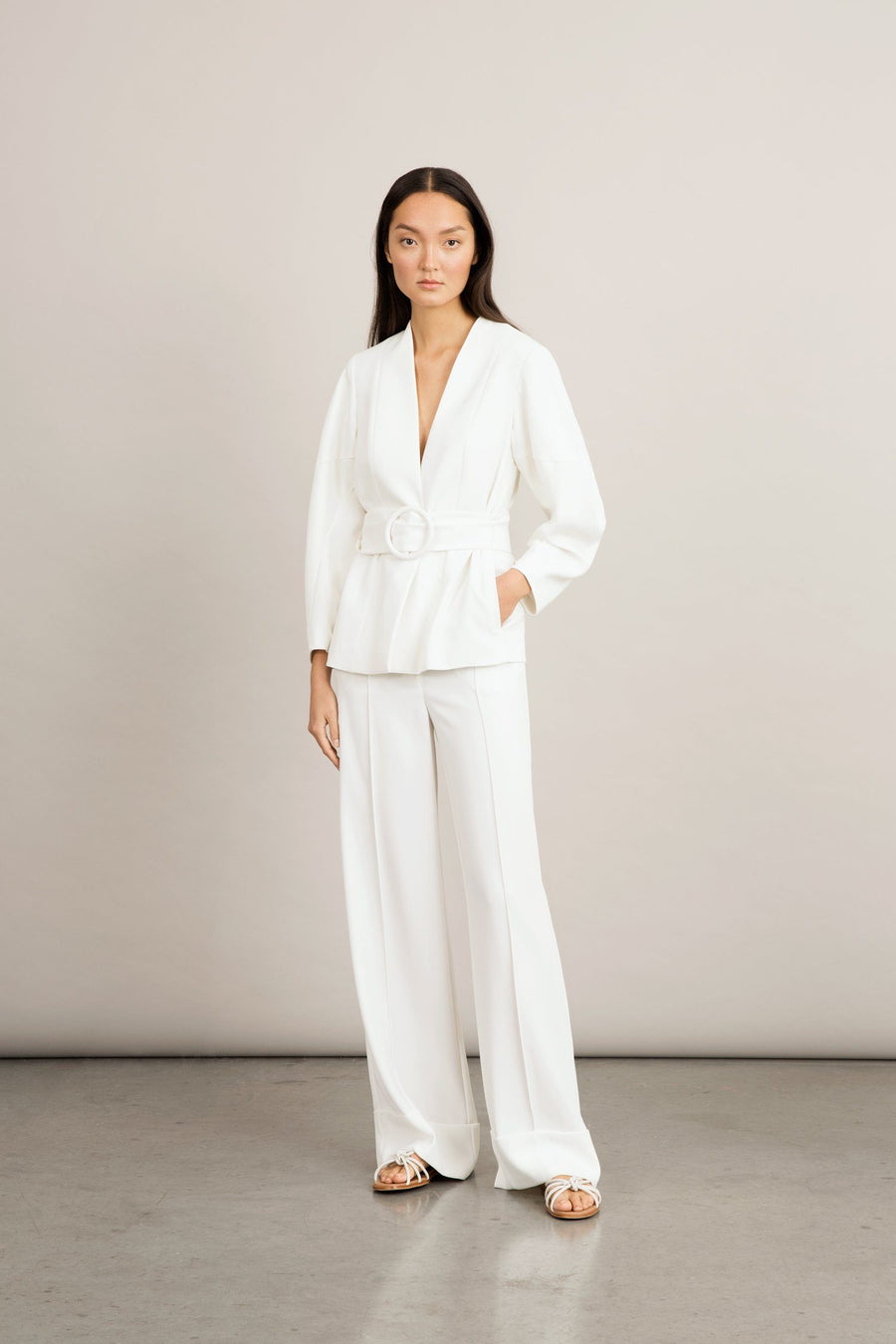 BOGAR TROUSERS - WHITE Trousers Stylein