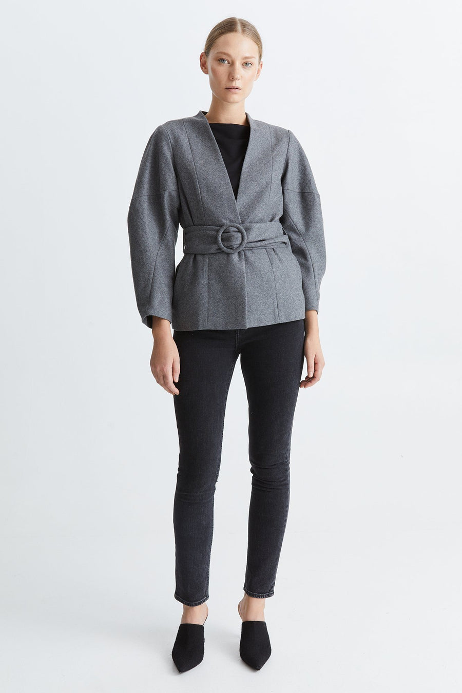 TAORMINA JACKET - LIGHT GREY