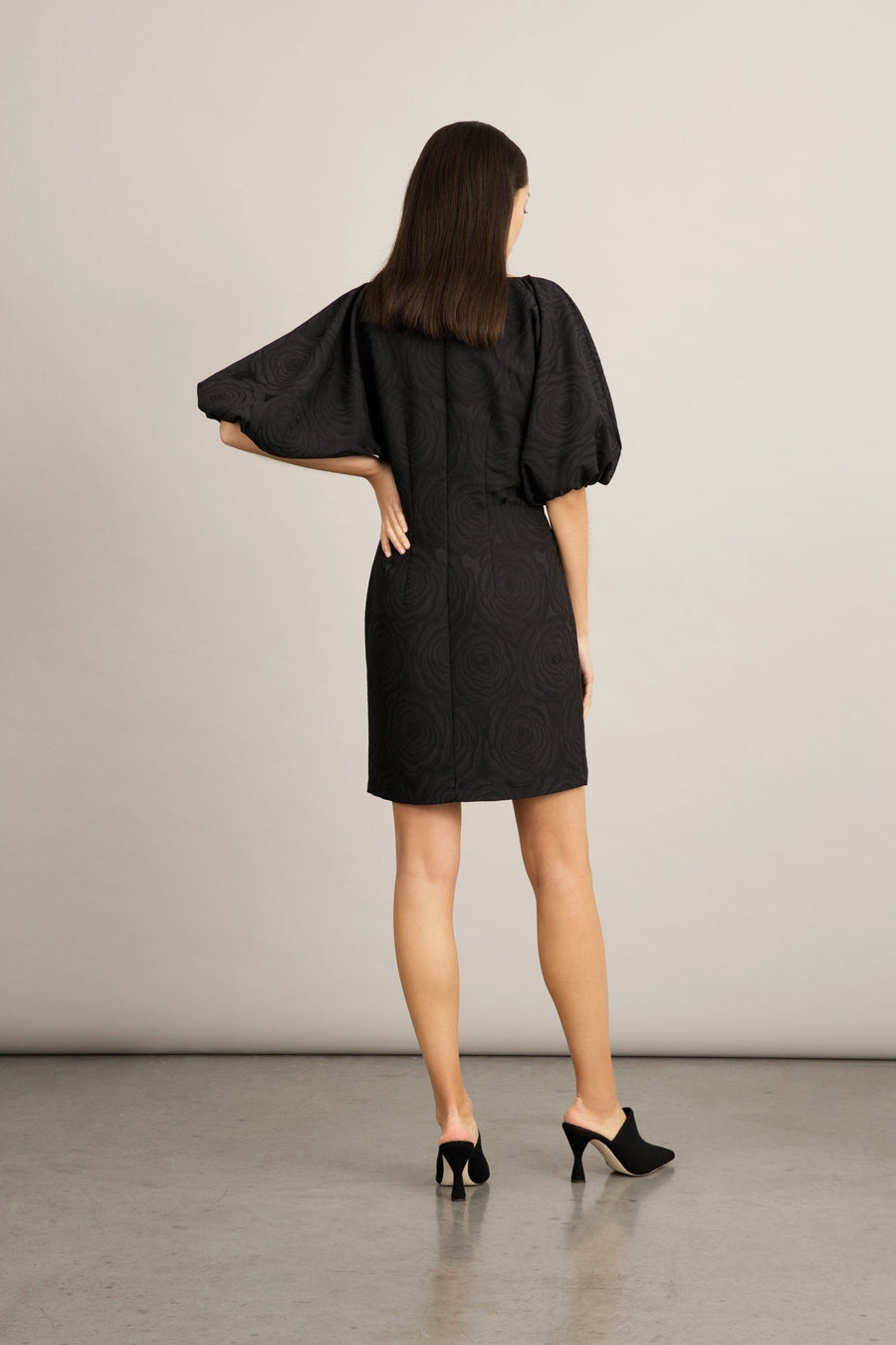 BRERA DRESS - BLACK JACQUARD Dress Stylein
