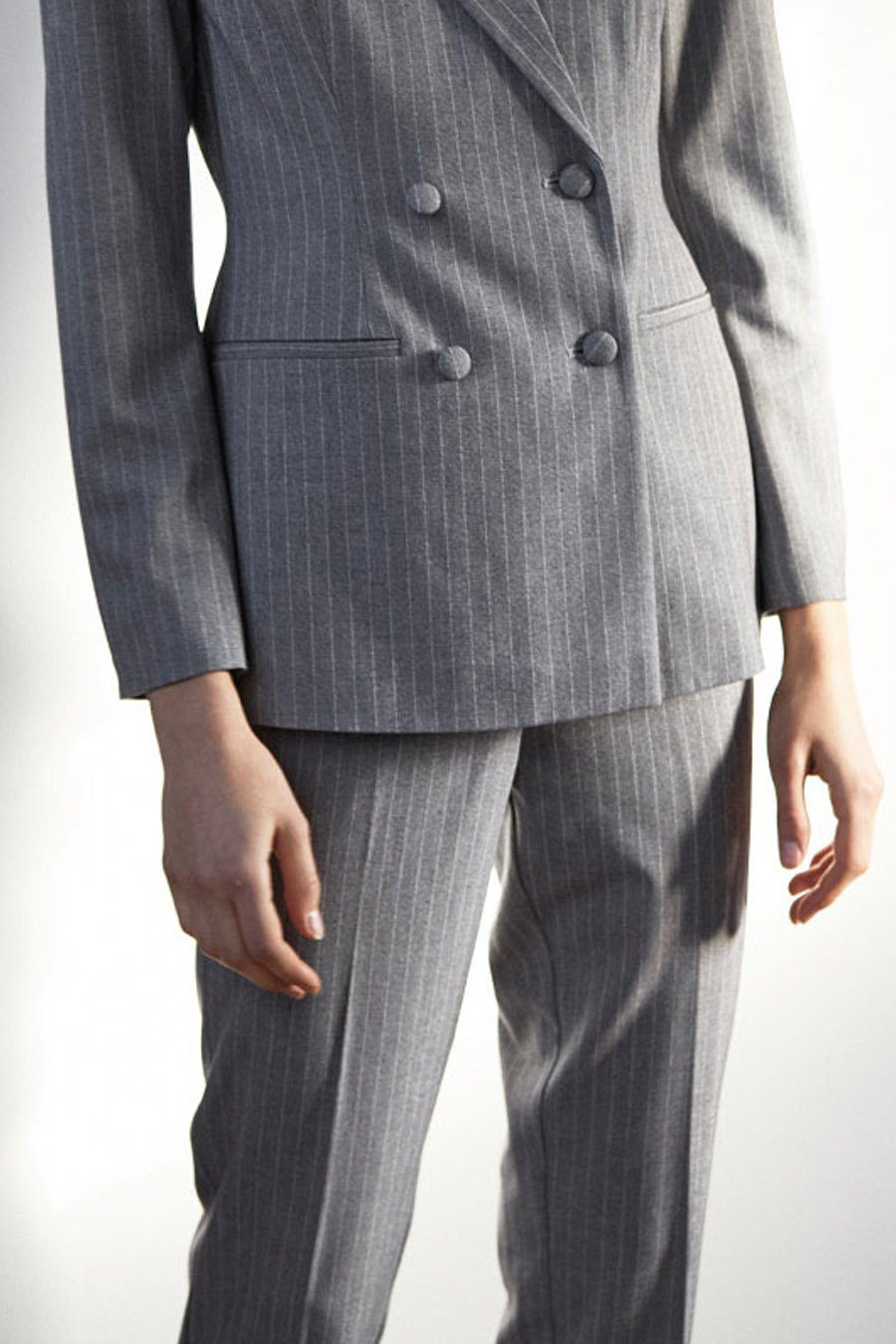 BRIXTON TROUSERS - GREY PINSTIRPE Trousers Stylein