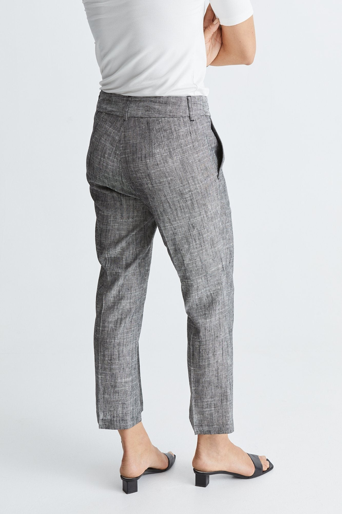 BRYDGES TROUSERS - BLACK LINEN Trousers Stylein