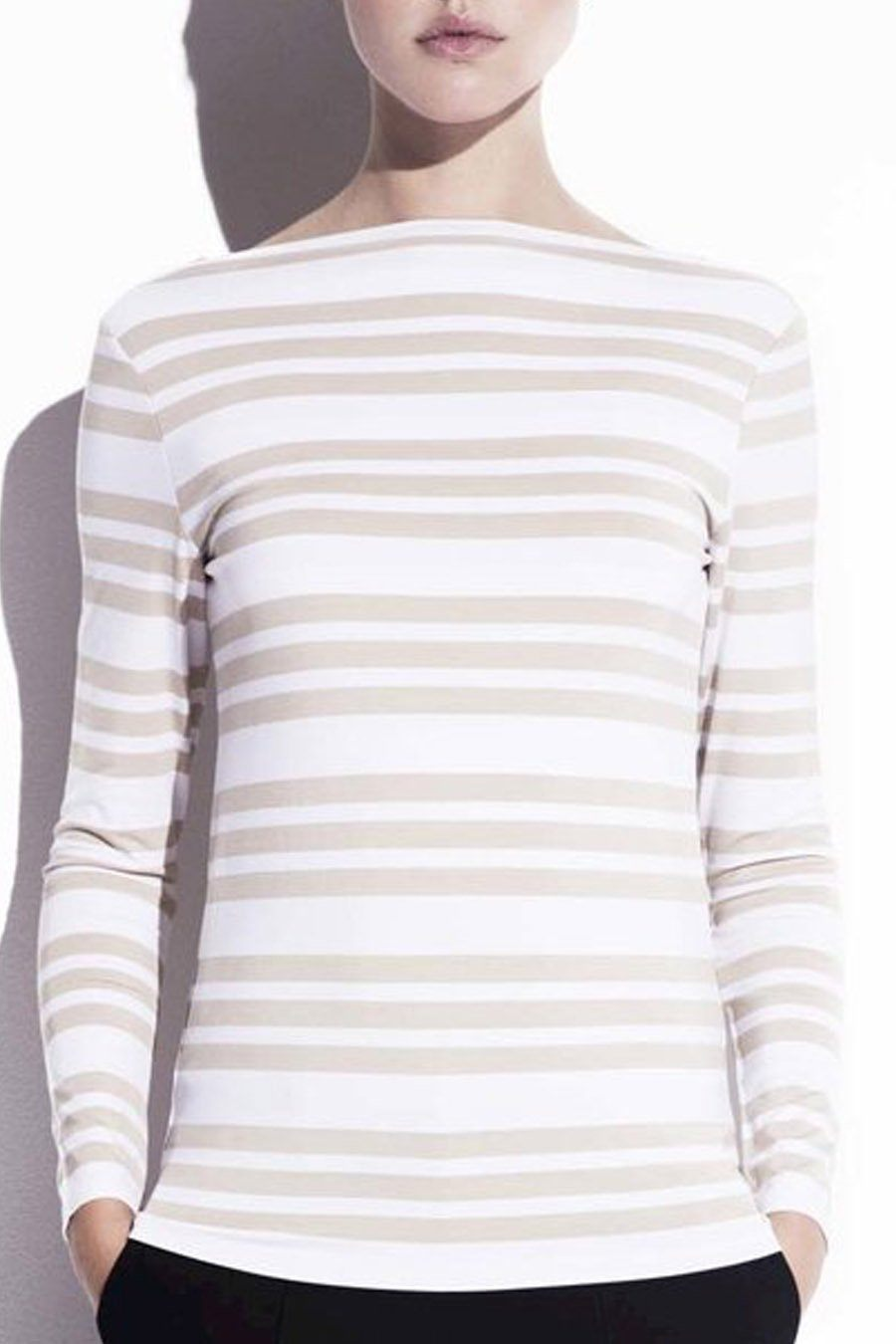 CANCIRER TOP - STRIPED SAND Top Stylein
