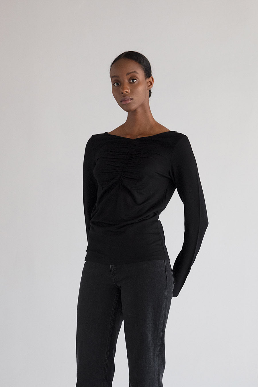 CASSIS TOP - BLACK