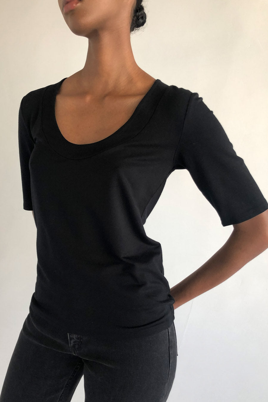 CLAIRE TOP - BLACK