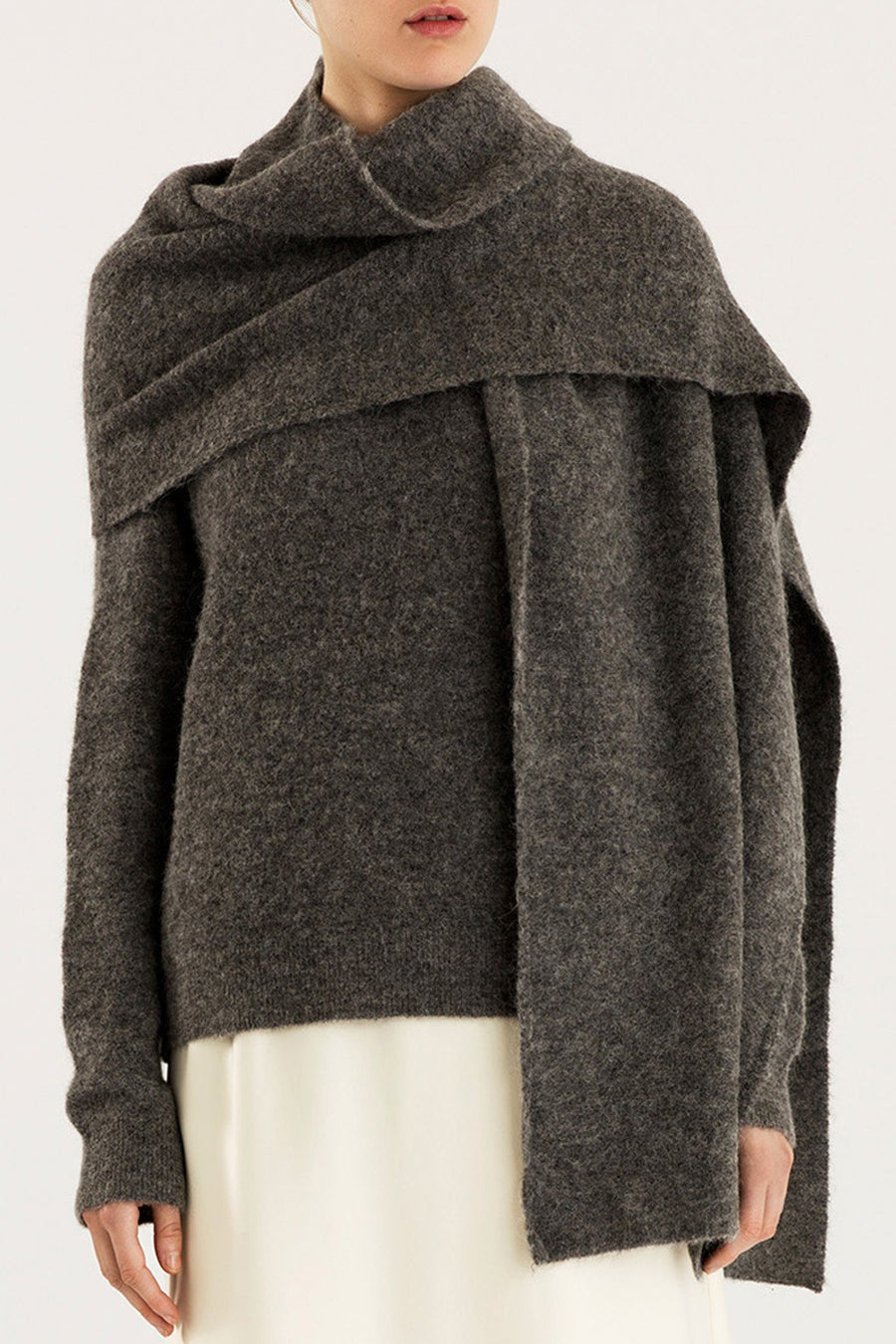 ELSA SCARF - GREY Sweater Stylein