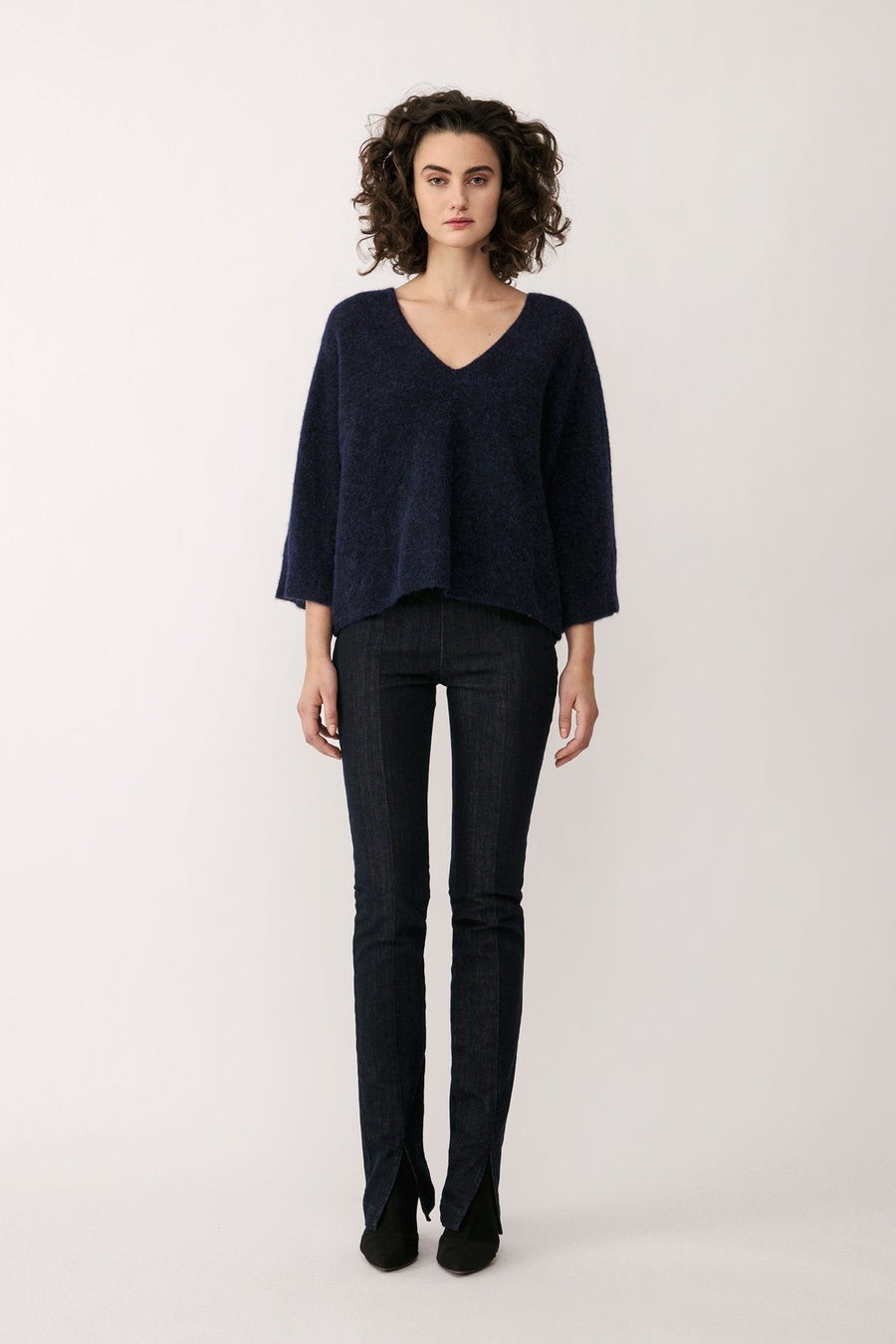 ENNA SWEATER - NAVY Sweater Stylein