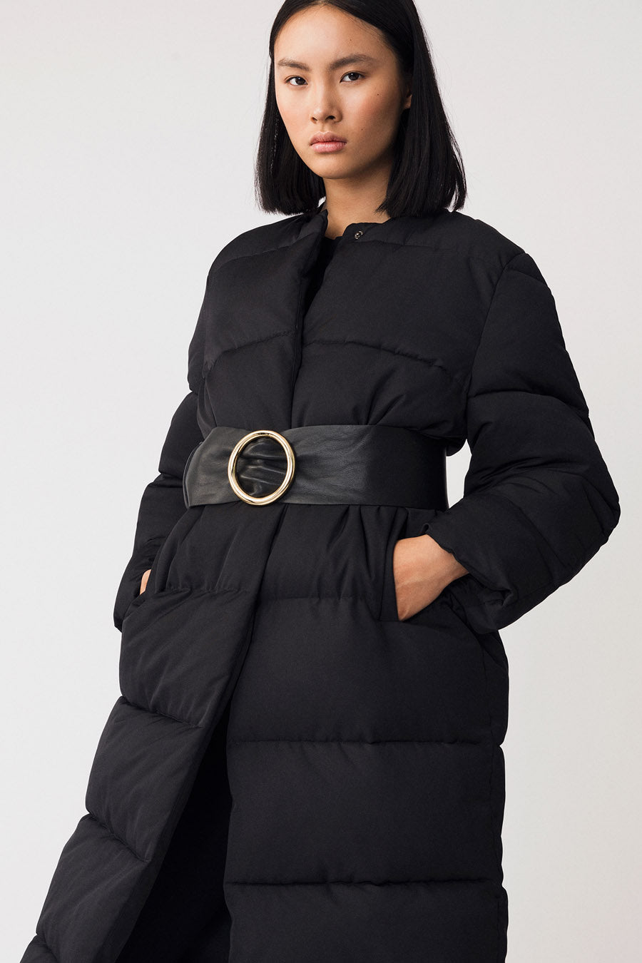 HELMO COAT - BLACK